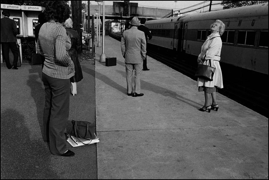 Waiting for train : Structured Moments : SUSAN MAY TELL: Photographs of Space, Silence & Solitude