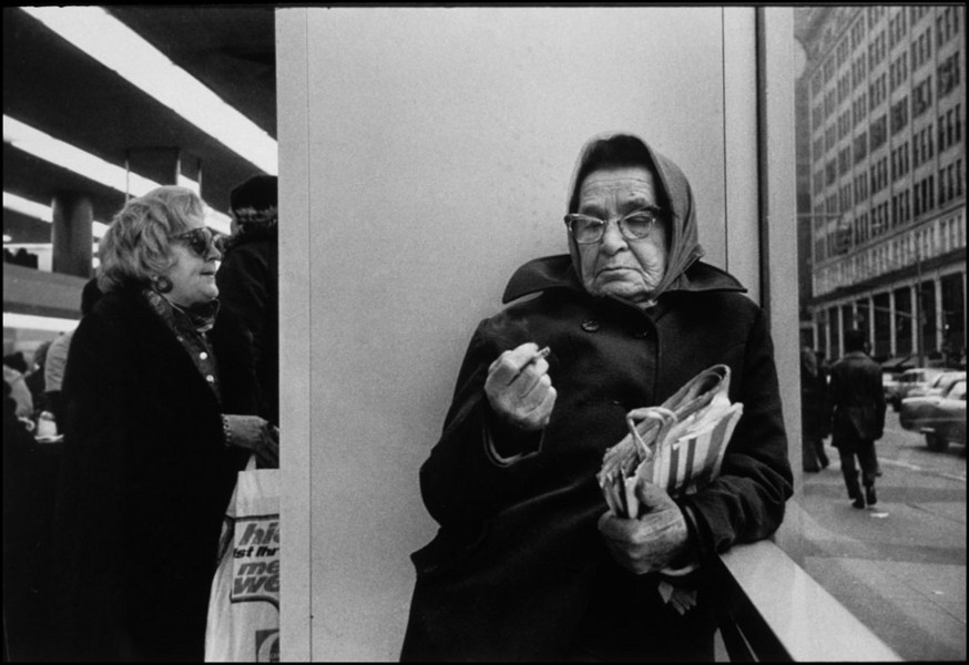 Woman and cigarette : Structured Moments : SUSAN MAY TELL: Photographs of Space, Silence & Solitude