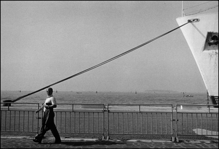 Man walking ship : Structured Moments : SUSAN MAY TELL: Photographs of Space, Silence & Solitude